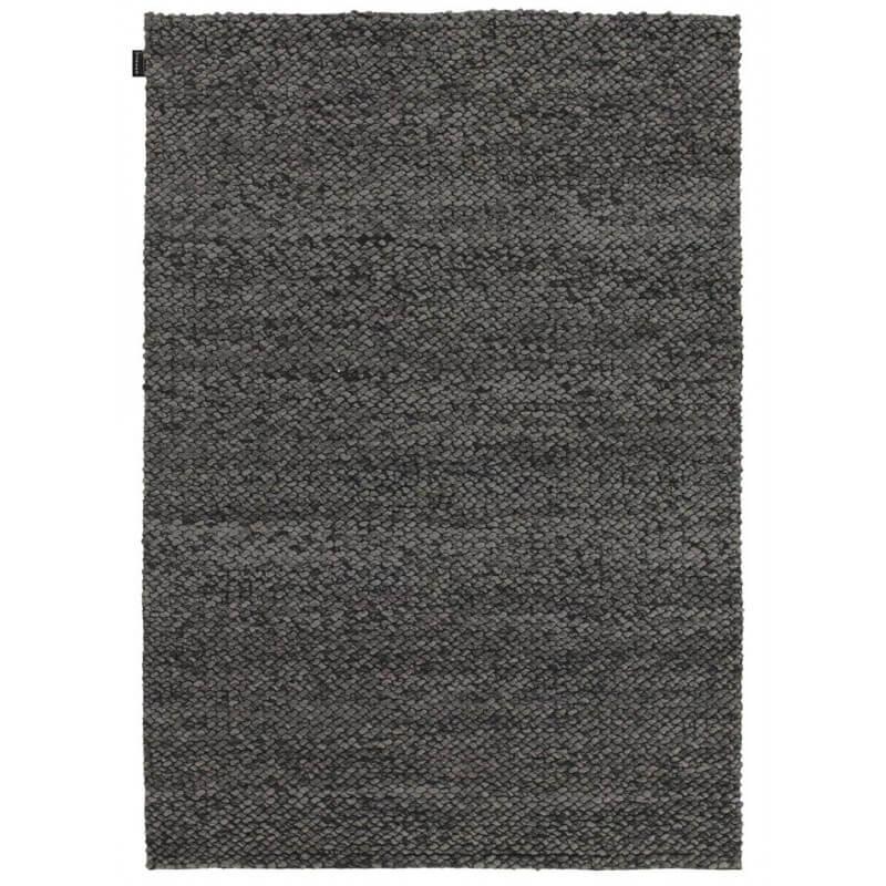 tapis design en laine tiss main gris fonc waves angelo. Black Bedroom Furniture Sets. Home Design Ideas