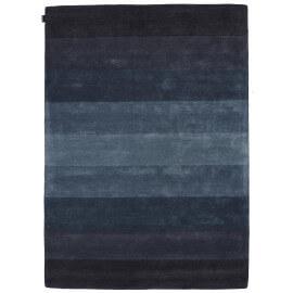 Tapis en laine de Nouvelle-Zélande tufé main contemporain bleu Caesar Angelo