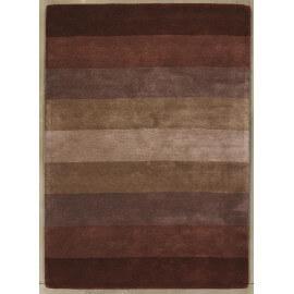 Tapis en laine de Nouvelle-Zélande tufé main contemporain brun Caesar Angelo