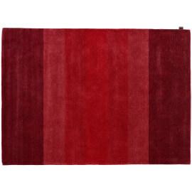 Tapis en laine de Nouvelle-Zélande tufé main contemporain rouge Caesar Angelo