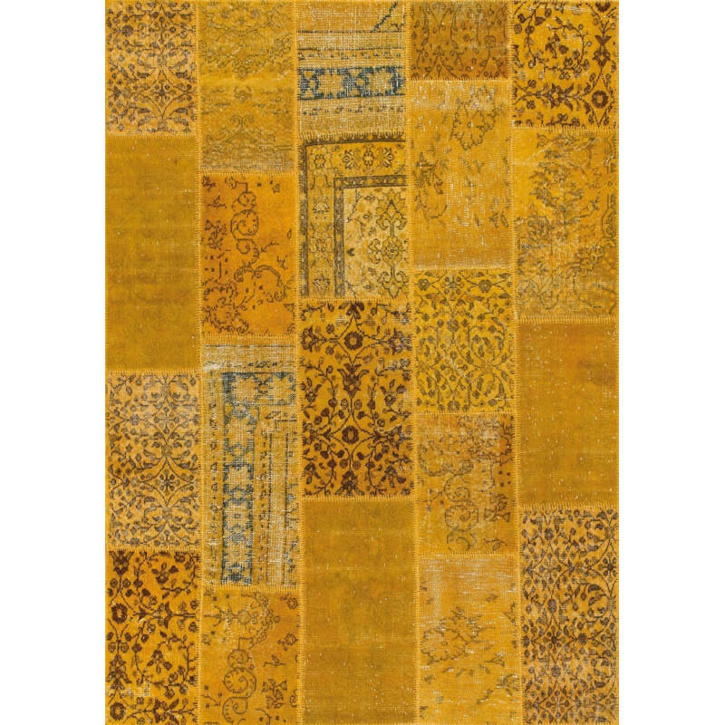 tapis kilim en laine et coton recycl style vintage jaune up cycle angelo. Black Bedroom Furniture Sets. Home Design Ideas