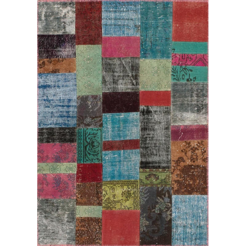 tapis kilim en laine et coton recycl style vintage multicolore up cycle angelo. Black Bedroom Furniture Sets. Home Design Ideas