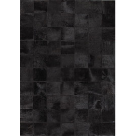 Tapis patchwork en peau de vache noir Starless Angelo
