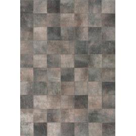Tapis patchwork en peau de vache gris Starless Angelo
