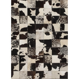 Tapis patchwork en peau de vache Starless Angelo