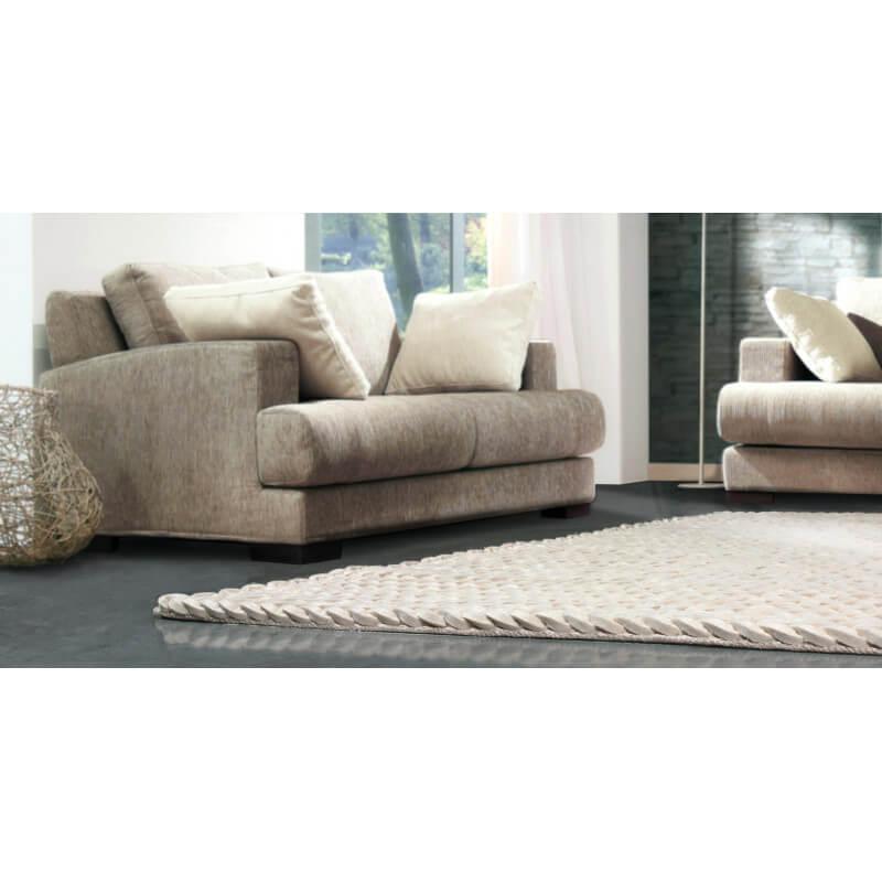 tapis shaggy moderne blanc en laine feutr e highland angelo. Black Bedroom Furniture Sets. Home Design Ideas
