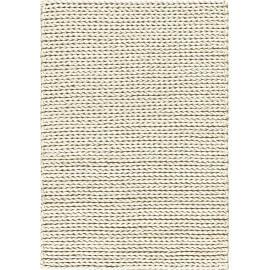 Tapis shaggy moderne blanc en laine feutrée Highland Angelo