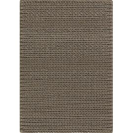 Tapis shaggy moderne taupe en laine feutrée Highland Angelo