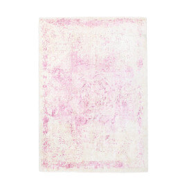 Tapis rectangle en viscose vintage rose Boutique