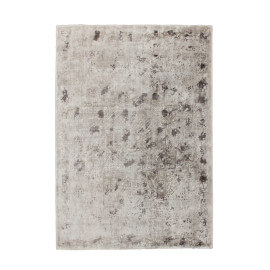 Tapis rectangle en viscose vintage argenté Boutique