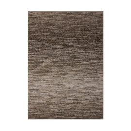 Tapis rayé beige rectangle pour salon Loop