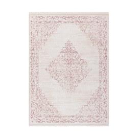 Tapis baroque rose avec franges doux Central