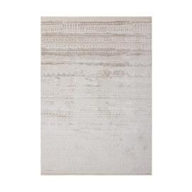 Tapis avec franges vintage acrylique ivoire Filmo