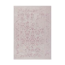 Tapis rose avec franges vintage doux Eva