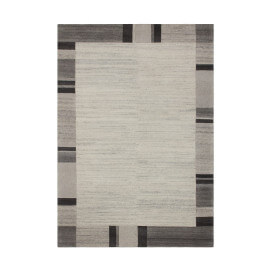 Tapis noué main contemporain gris Goa