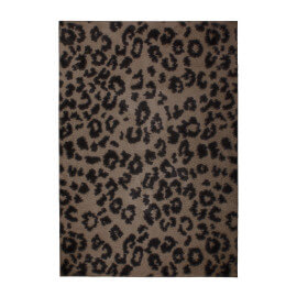 Tapis shaggy effet léopard taupe doux Consell