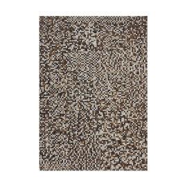 Tapis en cuir beige patchwork plat Patchwork