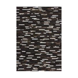Tapis patchwork en cuir plat marron Patchwork