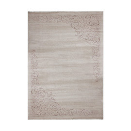 Tapis brillant contemporain beige pour salon Romendo