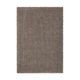 Tapis shaggy uni marron River