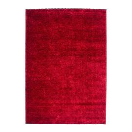 Tapis shaggy brillant rouge uni Diva