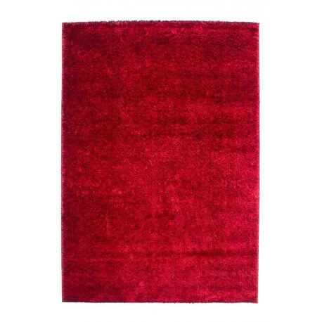 tapis shaggy brillant rouge uni diva. Black Bedroom Furniture Sets. Home Design Ideas