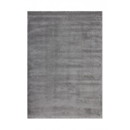 tapis en polypropyl ne doux argent uni oslo. Black Bedroom Furniture Sets. Home Design Ideas