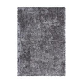 Tapis doux en polyester argenté Tango par Lalee