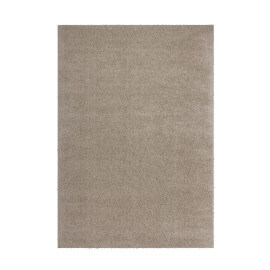 Tapis uni beige polyester doux shaggy Vaguo