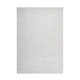 Tapis uni ivoire polyester doux shaggy Vaguo