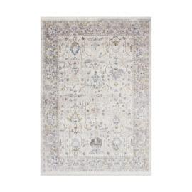 Tapis avec franges vintage polyester beige Like