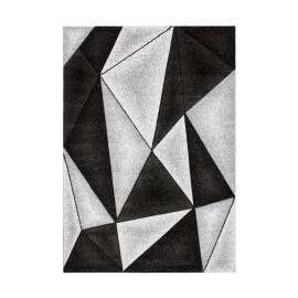 Tapis design argenté à courtes mèches Verdi