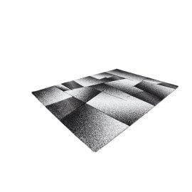 Tapis effet 3D géométrique argenté intérieur Crystal