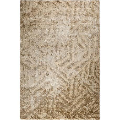 Tapis vintage beige géométrique en polyester doux Vintage Tiles