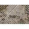 Tapis vintage gris géométrique en polyester doux Vintage Tiles