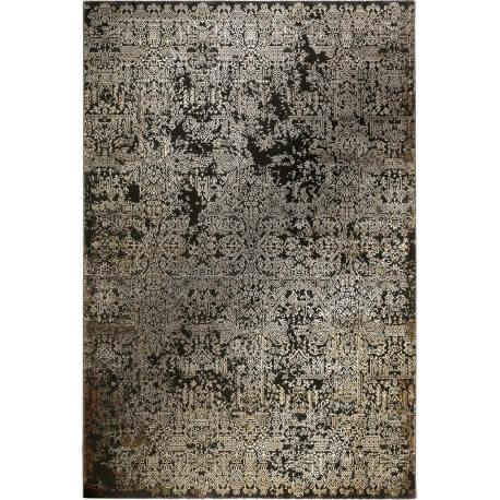Tapis brun en polyester doux vintage Bel Etage