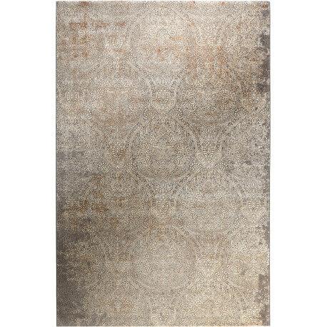 Tapis en polyester doux argenté vintage Baroque Vintage