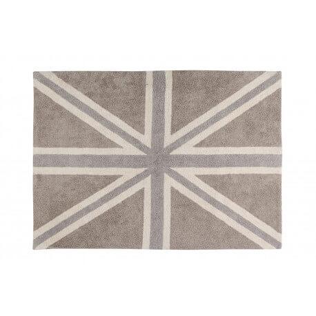 Tapis lavable en machine drapeau anglais gris Flag Classic Lorena Canals