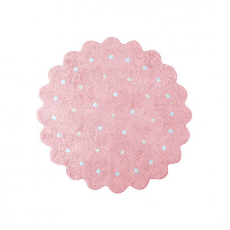 Tapis enfant rond rose Galletita Lorena Canals
