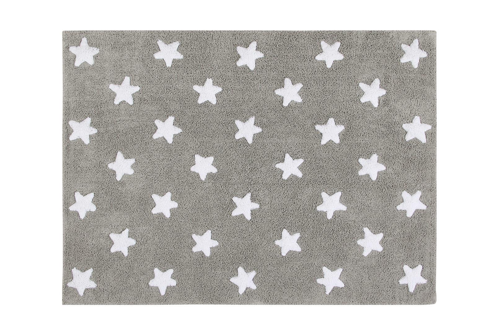 Tapis pour bébé lavable en machine Stars White Lorena Canals