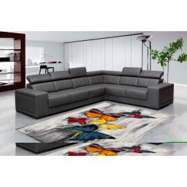 Tapis multicolore moderne pour salon rectangle Pinja