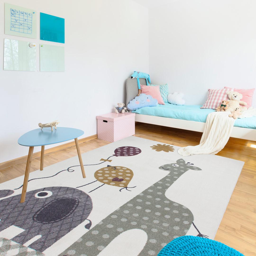 Tapis pour chambre enfant multicolore safari Tapis pour chambre enfant
