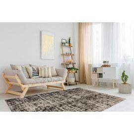 Tapis rayé moderne pour salon beige Beli