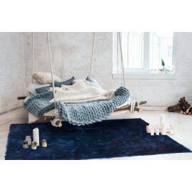 Tapis doux en polyester bleu encre Tango par Lalee