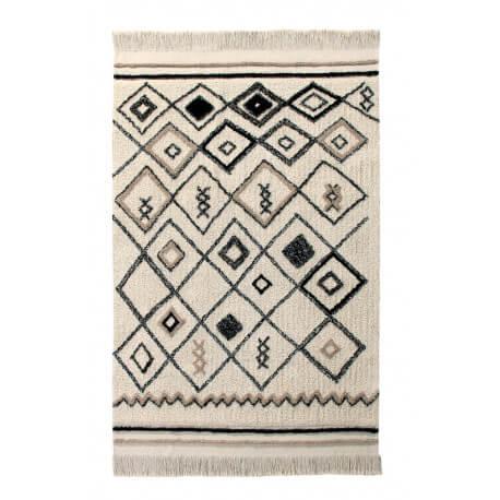 Tapis en coton lavable en machine beige Bereber Ethnic Lorena Canals