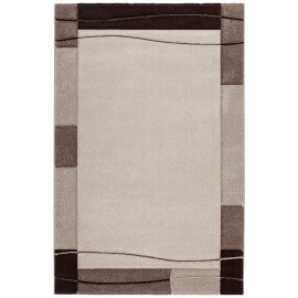 Tapis contemporain sable pour salon Noua