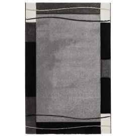 Tapis contemporain argenté pour salon Noua