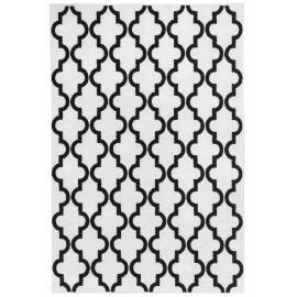 Tapis scandinave blanc géométrique pour salon Riou