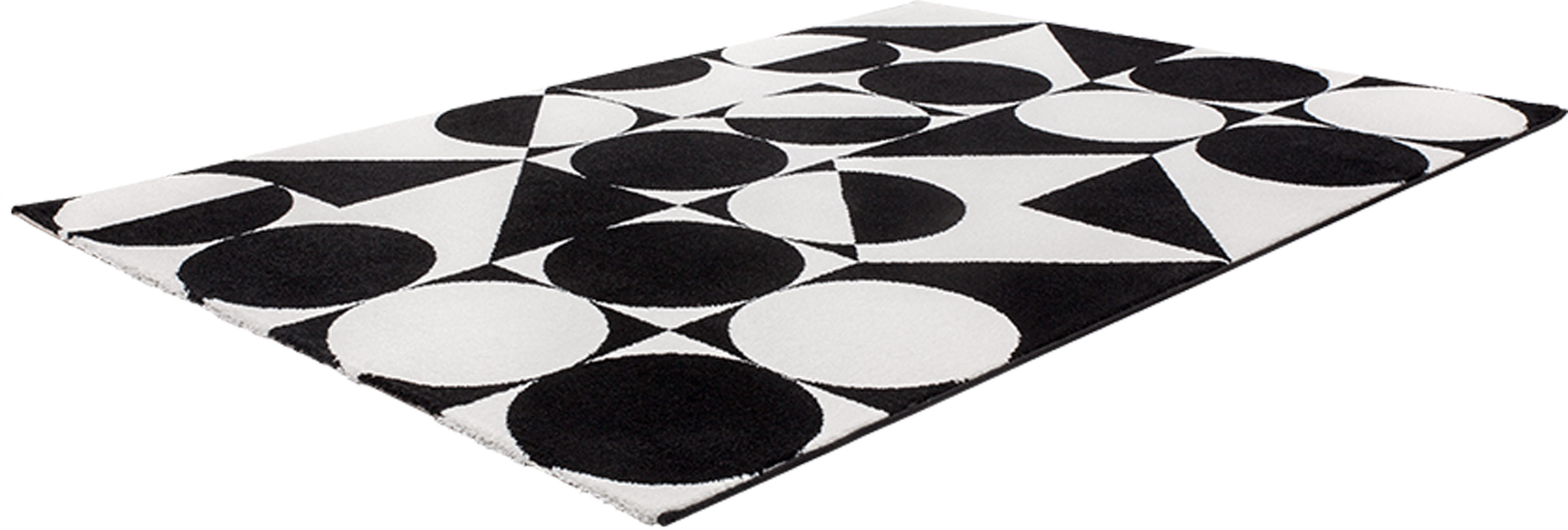 tapis g om trique noir et blanc rectangle design metrix. Black Bedroom Furniture Sets. Home Design Ideas