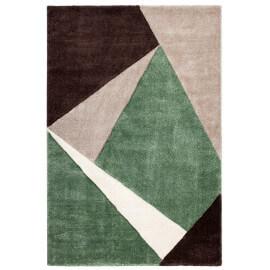 Tapis géométrique pour salon vert moderne Viki
